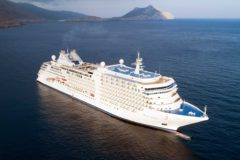 Luxury cruise ship Silver Moon named in Athens