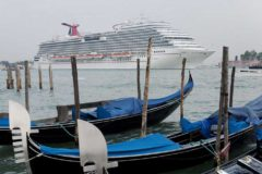Cruise ships banned from Venice's Giudecca Canal in attempt to preserve historic lagoon