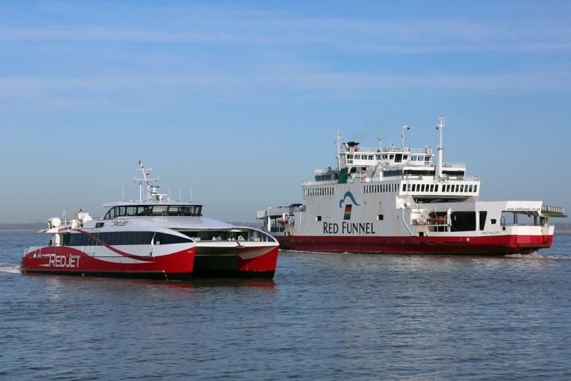 Red Funnel ferries celebrate the past 160 years
