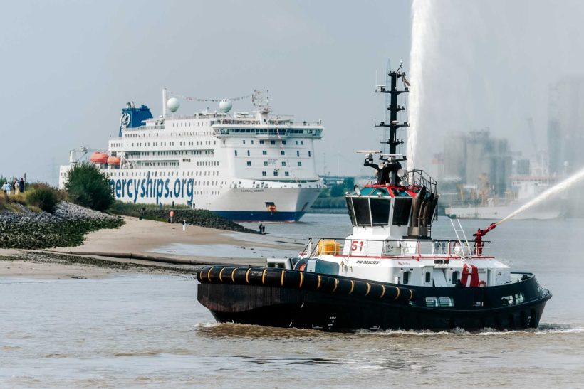 Global Mercy arrives in Antwerp for final fitting out