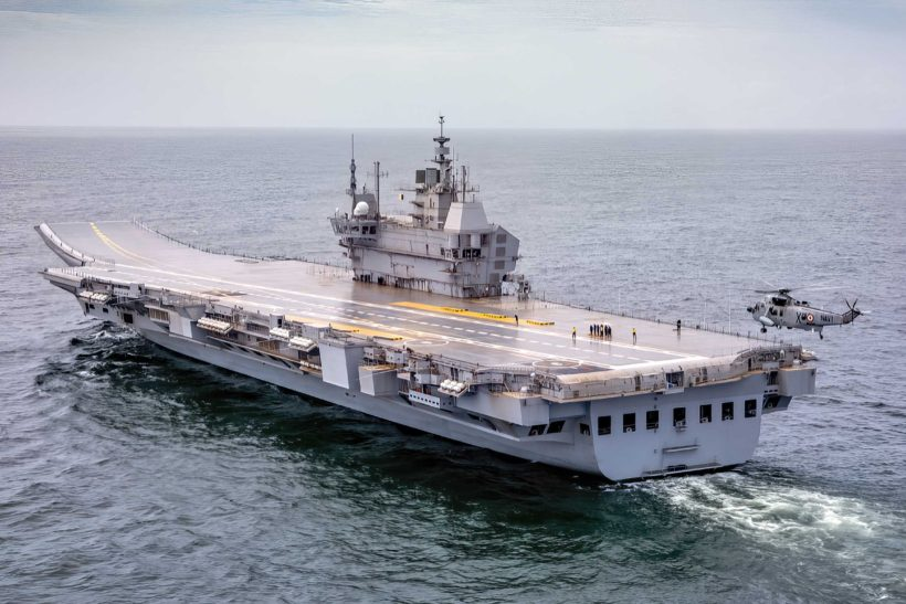 India's first indigenous aircraft carrier on trials