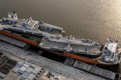 North America's first all-electric car ferries depart  Damen Shipyards Galati for Ontario, Canada