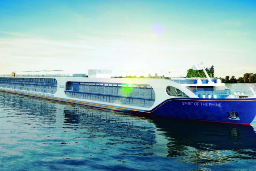 Saga's new river cruise ship Spirit of the Rhine departs on inaugural cruise