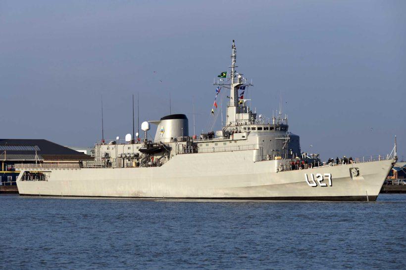 Brazilian navy training ship NE Brazil visits London